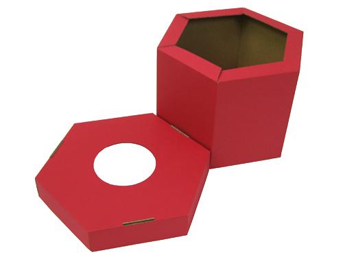 六角形天地盖纸盒No.A013